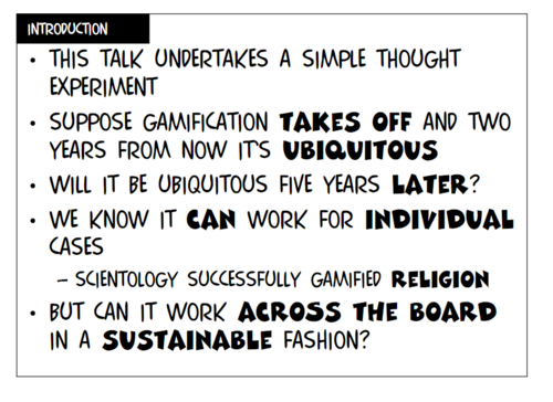 "PDF of Richard Bartle's talk ""Gamification: Too Much of a Good Thing?"""